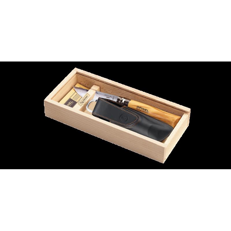 Plumier Opinel  Olivier N°8 Inox avec étui