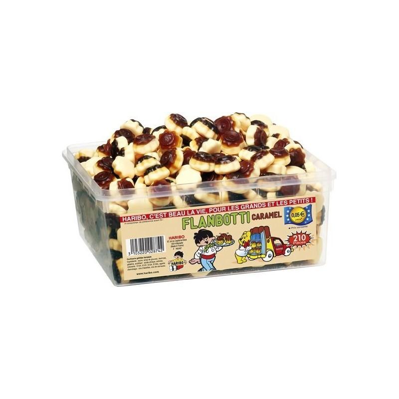 Tubo Haribo Flanbotti Caramel x 210 pièces