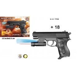Pistolet à Billes Laser 17 cm