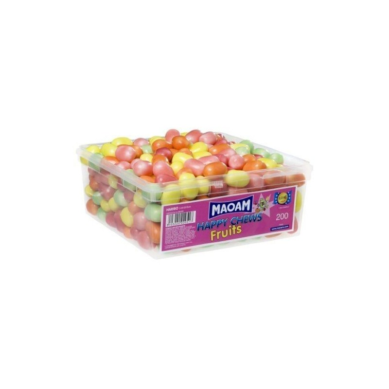 Tubo Haribo Mao Croqui Fruit x 200 pièces