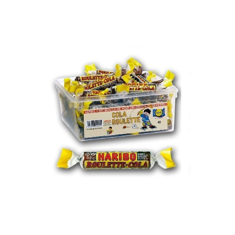 Tubo Haribo Roulette Cola x 45 pièces