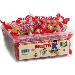 Tubo Haribo Roulette Fruit x 45 pièces