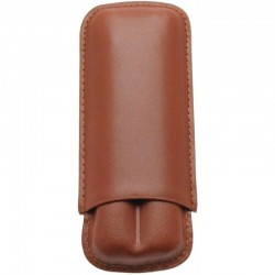 Etui en Cuir Marron 2 Cigares
