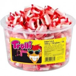 Tubo Trolli Dracula x 150 pièces