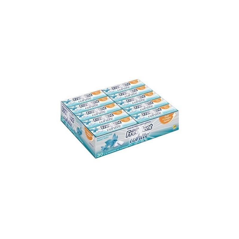 Freedent White Chewing Gum Menthe Douce 30 Etuis de 10 Dragées