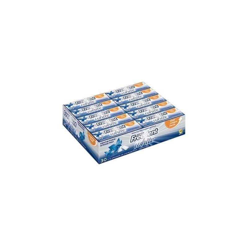 Freedent White Chewing Gum Menthe Forte 30 Etuis de 10 Dragées