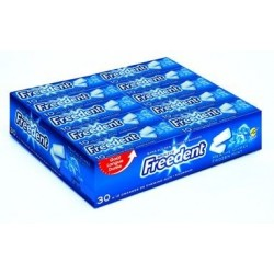Freedent Chewing Gum Menthe Givrée 30 Etuis de 10 Dragées