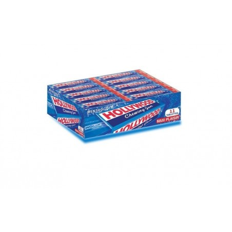 Hollywood Menthol 20 étuis de 11 Chewing Gum en Tablette