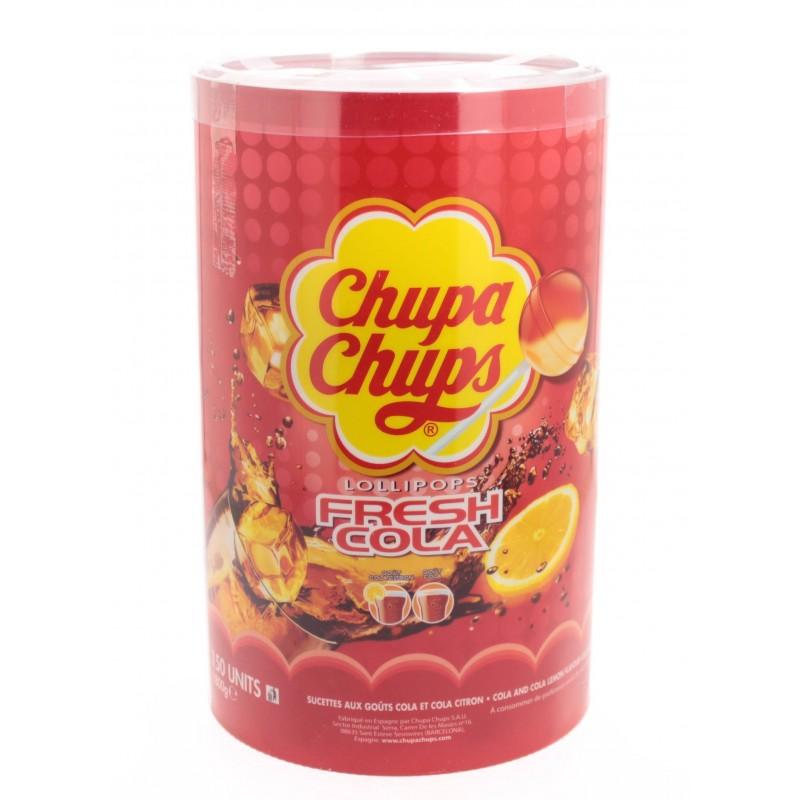 Chupa Chups Goût Cola x 150 Sucettes