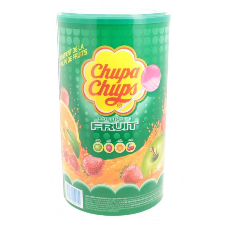 Chupa Chups Goût Fruits Assortis x 120 Sucettes