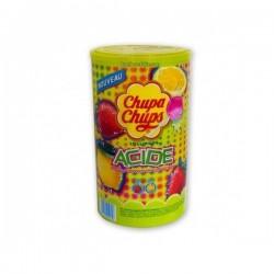 Chupa Chups Goût Fruits Acidulés x 120 Sucettes