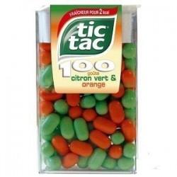 Tic Tac 100 Pastilles Citron vert & Orange x 12 Etuis