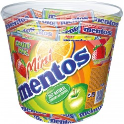 Tubo Mini Mentos Fruit Mix x 120 étuis