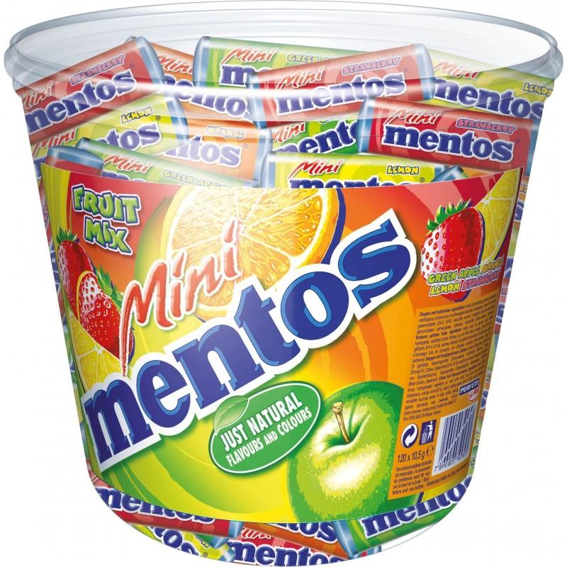 Tubo Mini Mentos Fruit Mix x 120 étuis