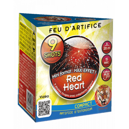 Artifices Compact Red Heart