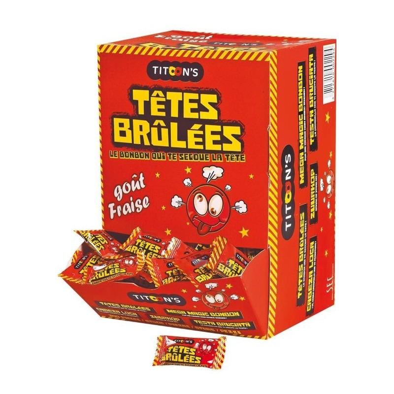 Bonbons Têtes Brûlées Fraise x 300 pièces