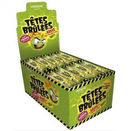 Bonbons Têtes Brûlées Pomme en Stick x 150 barres