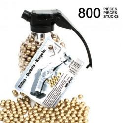 Biberon en forme de grenade de 800 billes or