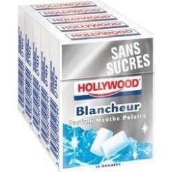 Hollywood Chewing Gum Blancheur 20 Etuis de 10 Dragées