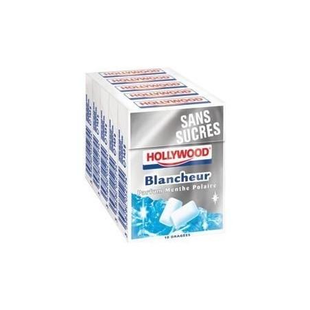 Hollywood Chewing Gum Blancheur 20 Etuis de 10 Dragées