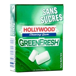 Hollywood Chewing Gum Green Fresh 20 Etuis de 10 Dragées