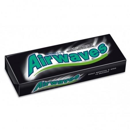 Airwaves Chewing Gum Black Menthol 30 Etuis de 10 Dragées