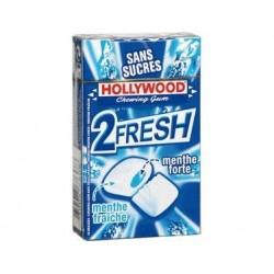 Hollywood 2 fresh Menthe Fraiche/ Menthe Forte 16 étuis de 10 dragées