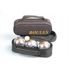 3 Boules de Pétanque Acier avec sacoche.