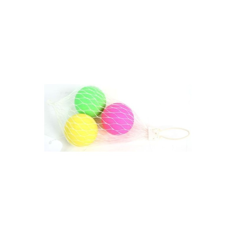 3 balles fluo beach ball
