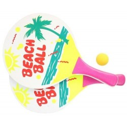 Raquettes de Beach Ball en bois pour enfant
