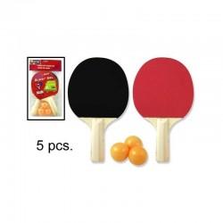 Raquettes de ping pong avec 3 balles