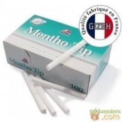 Boite de 100 tubes à cigarette Gizeh Silver Tip Menthol avec filtres x 5