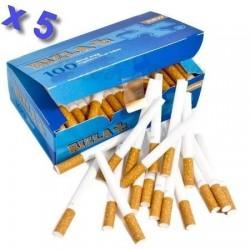 Boite de 100 tubes à cigarette Rizla + avec filtres x 5