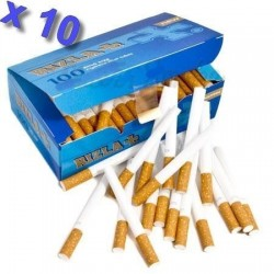 Boite de 100 tubes à cigarette Rizla + avec filtres x 10