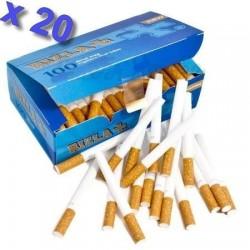 Boite de 100 tubes à cigarette Rizla + avec filtres x 20