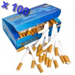 Boite de 100 tubes à cigarette Rizla + avec filtres x 100
