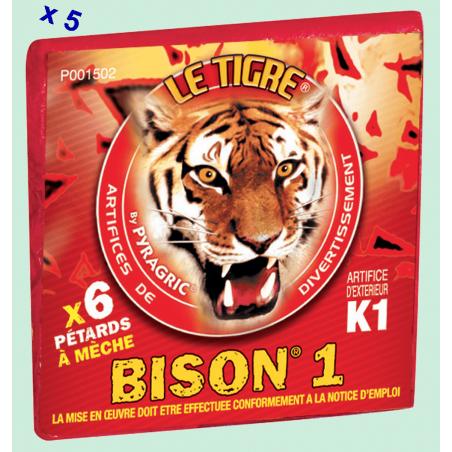 Pétard le Tigre Bison 1 x 5 Paquets