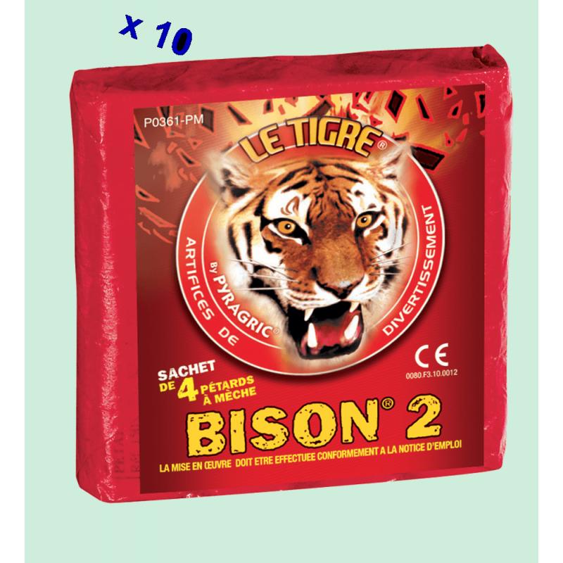 Pétard le Tigre Bison 2 x 10 Paquets