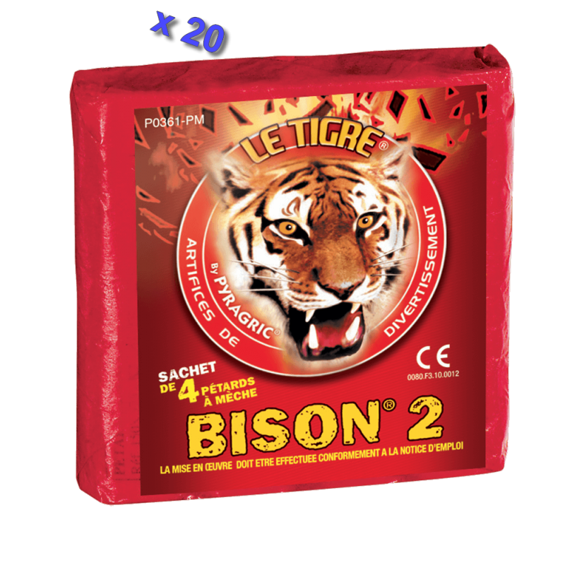 Pétard le Tigre Bison 2 x 20 Paquets