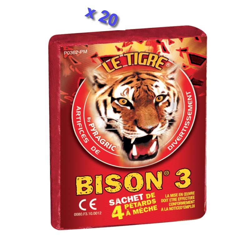 Pétard le Tigre Bison 3 x 20 Paquets