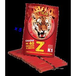 Pétard le Tigre Z Mitraillettes x 5 Paquets