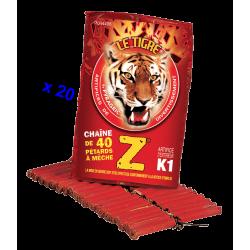 Pétard le Tigre Z Mitraillettes x 20 Paquets