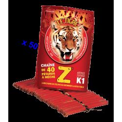 Pétard le Tigre Z Mitraillettes x 50 Paquets