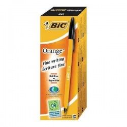 Stylo Bic Orange Fine Encre Noir
