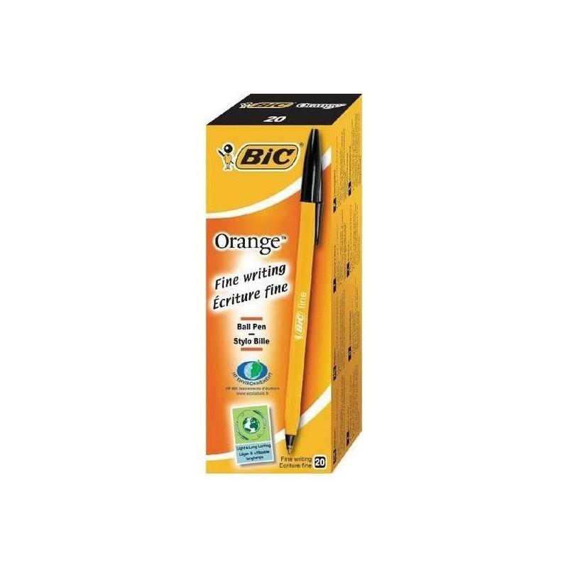 Stylo Bic Orange Fine Encre Noir
