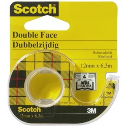 Ruban Adhésif Scotch Double Face 12 mm x 6.3 m