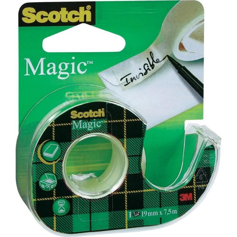 Ruban Adhésif Scotch Magic Carte Verte 19 mm x 7.5 m
