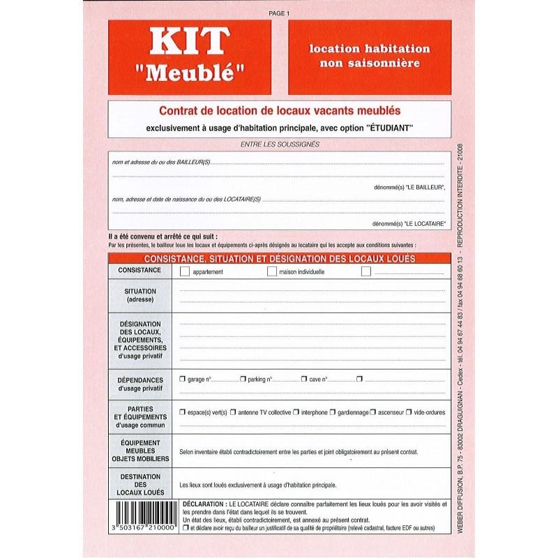 Contrat De Location Kit Meubl