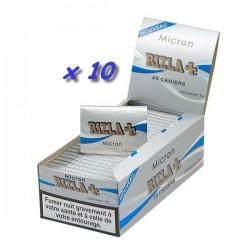 10 Carnets de Feuille à Rouler Rizla Micron