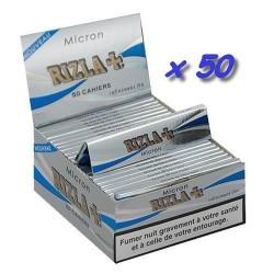 50 Carnets de Feuille à Rouler Rizla Micron Slim